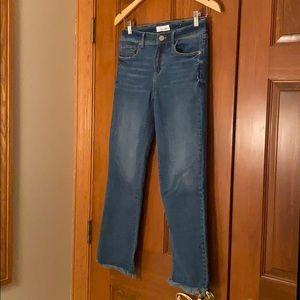 NWOT - Loft Fringe Hem Ankle Jeans -0/25